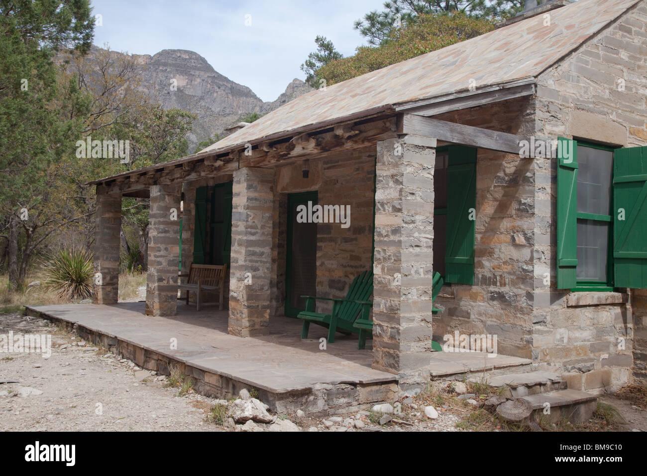 Pratt Cabin, McKittrick Canyon, Guadalupe Mountains National Park, Texas - Stock Image
