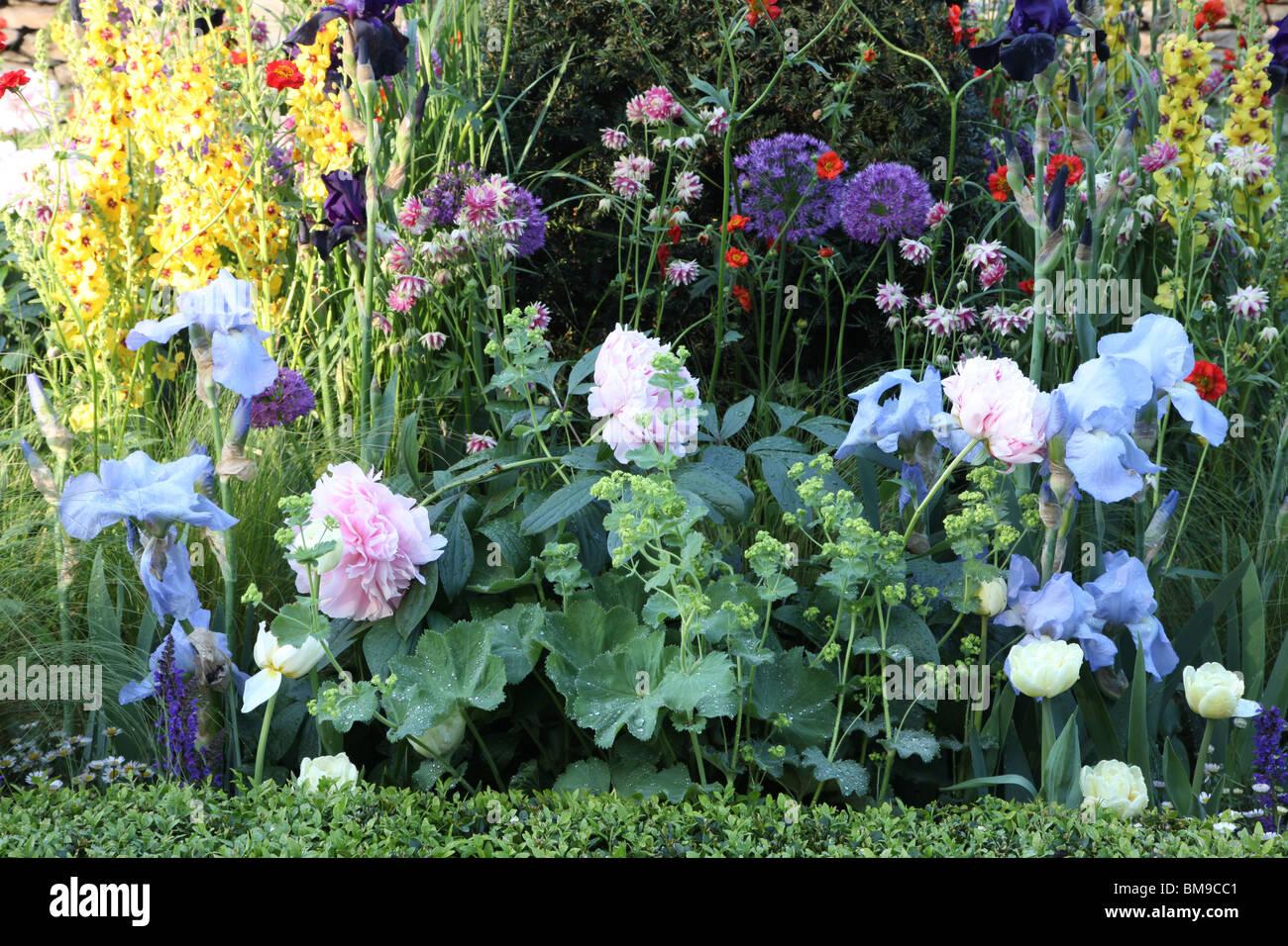 English Flower Border Victorian Aviary Garden Chelsea Show 2010