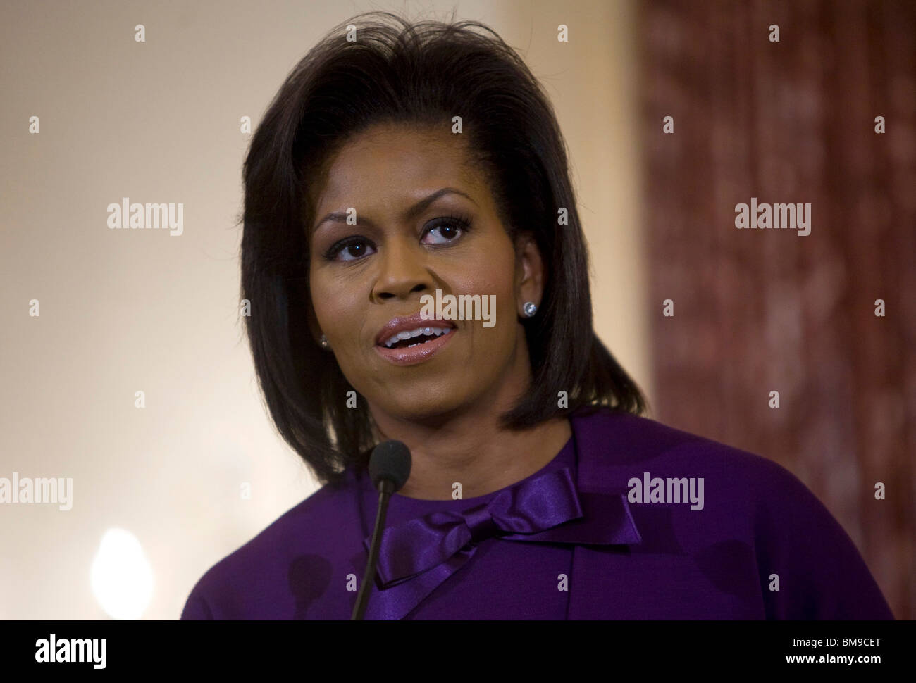 First Lady Michelle Obama. Stock Photo