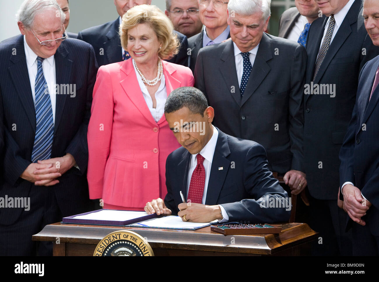 President Barack Obama Signs the Credit Card  Accountability Responsibility and Disclosure Act. - Stock Image