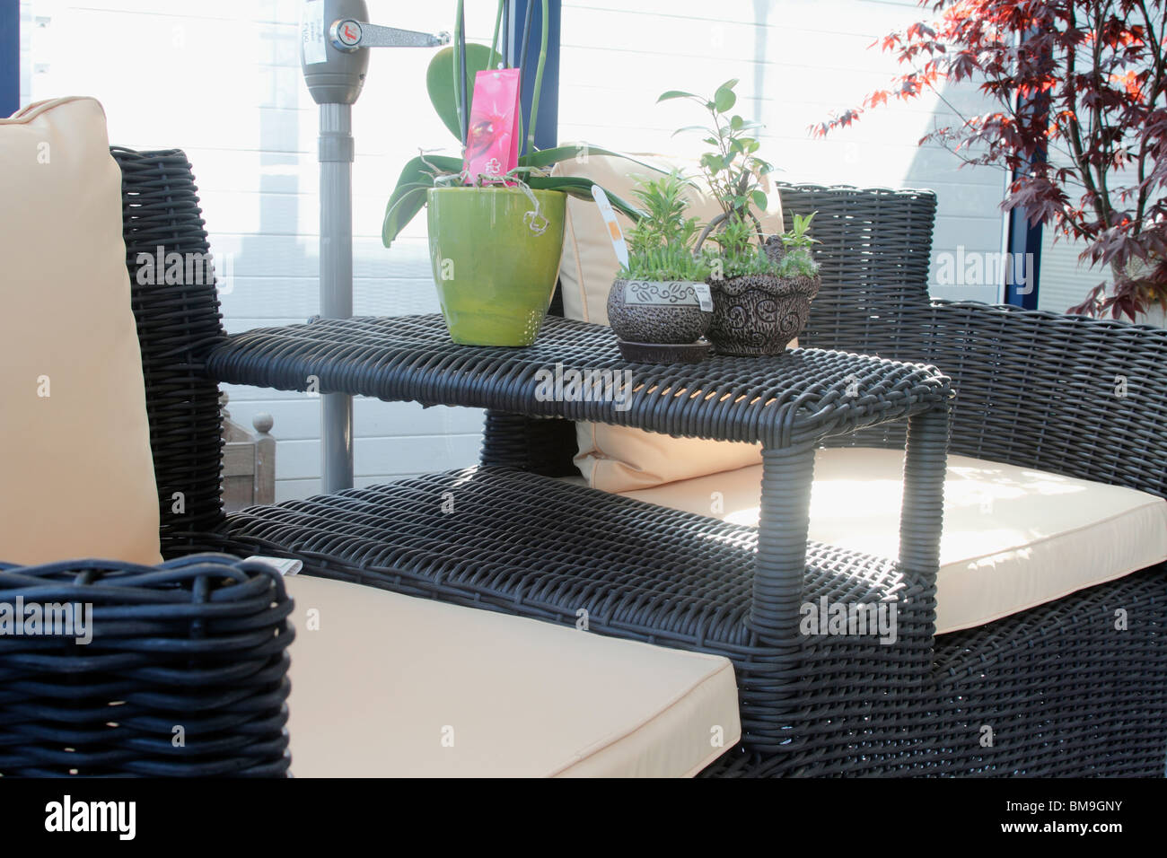 Japanese Patio Furniture. Garden And Patio Furniture Rattan Love Seat With  Japanese Style Parasol Brookfields