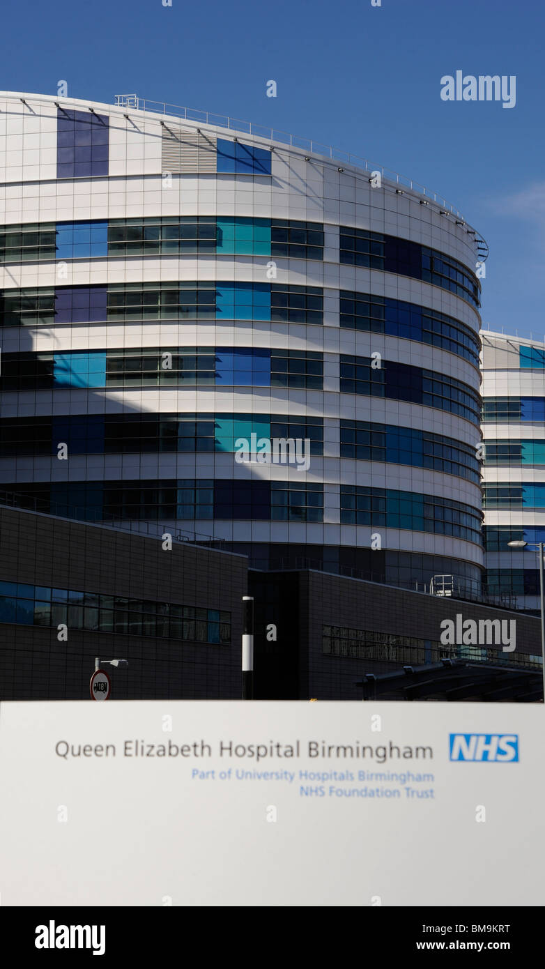 The new Queen Elizabeth Hospital at the end of it's construction. Stock Photo