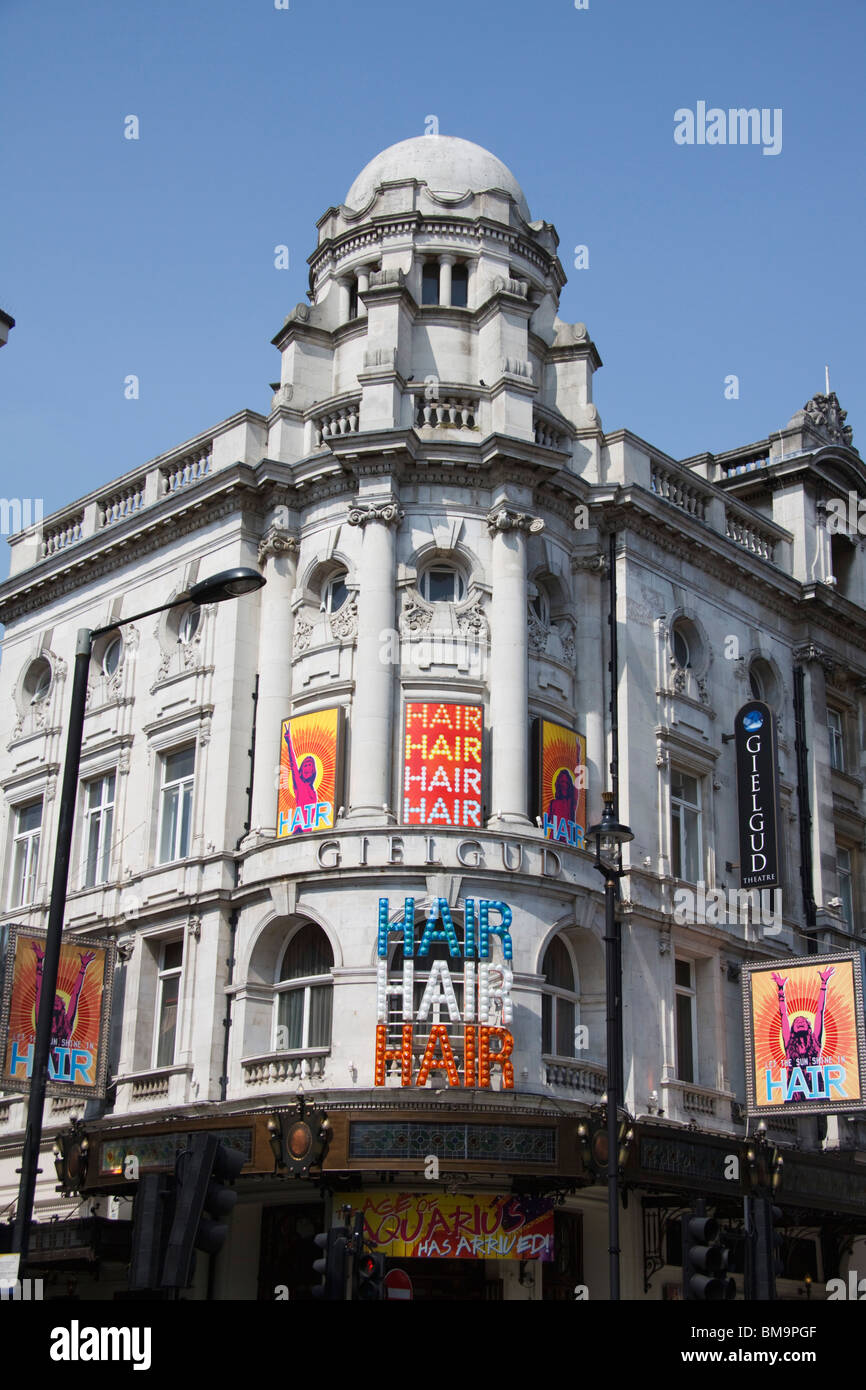 Gielgud Theatre , Londons West End, Shaftesbury Avenue , London, England - Stock Image