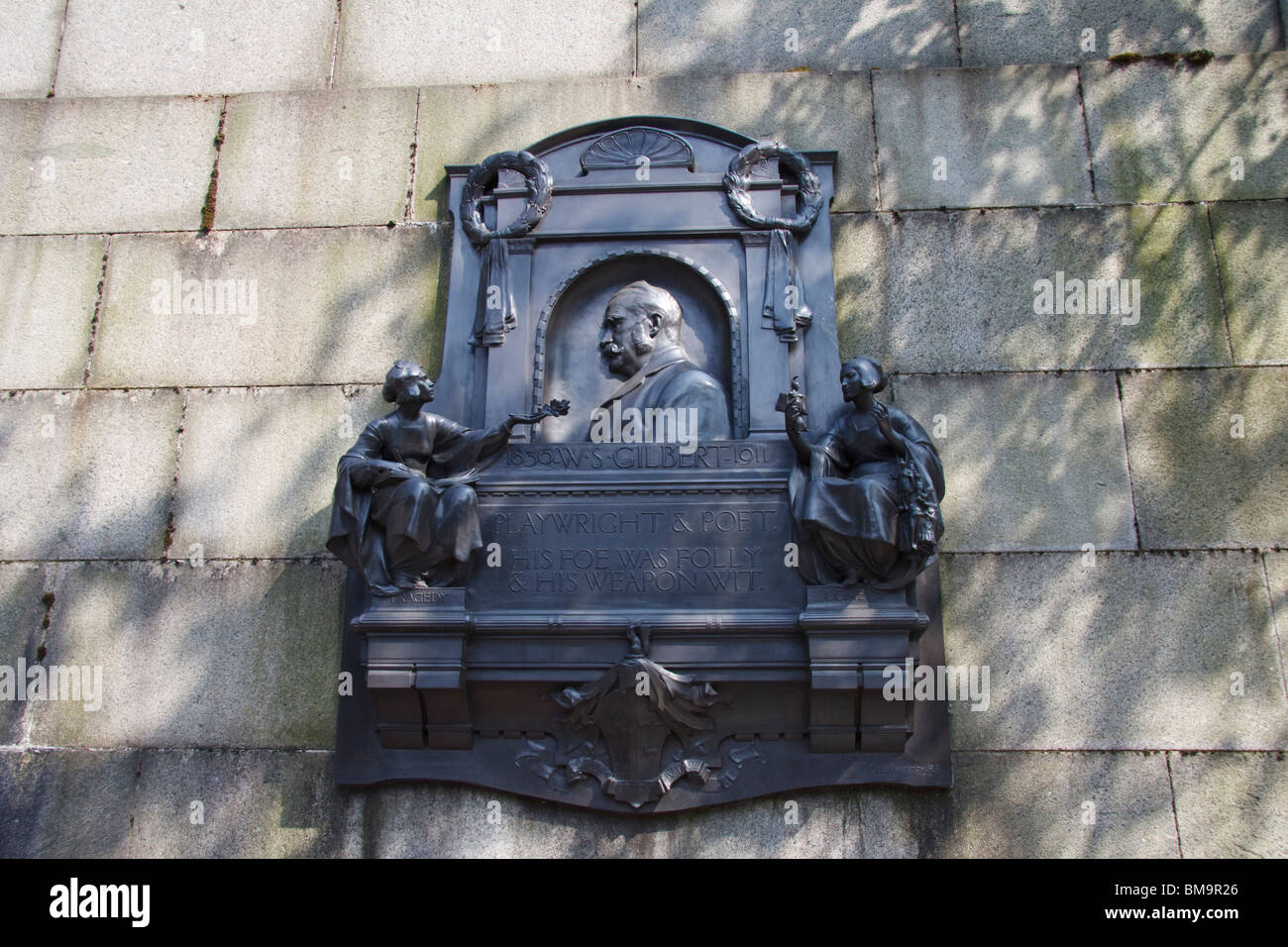 W . S . Gilbert plaque , London , England - Stock Image