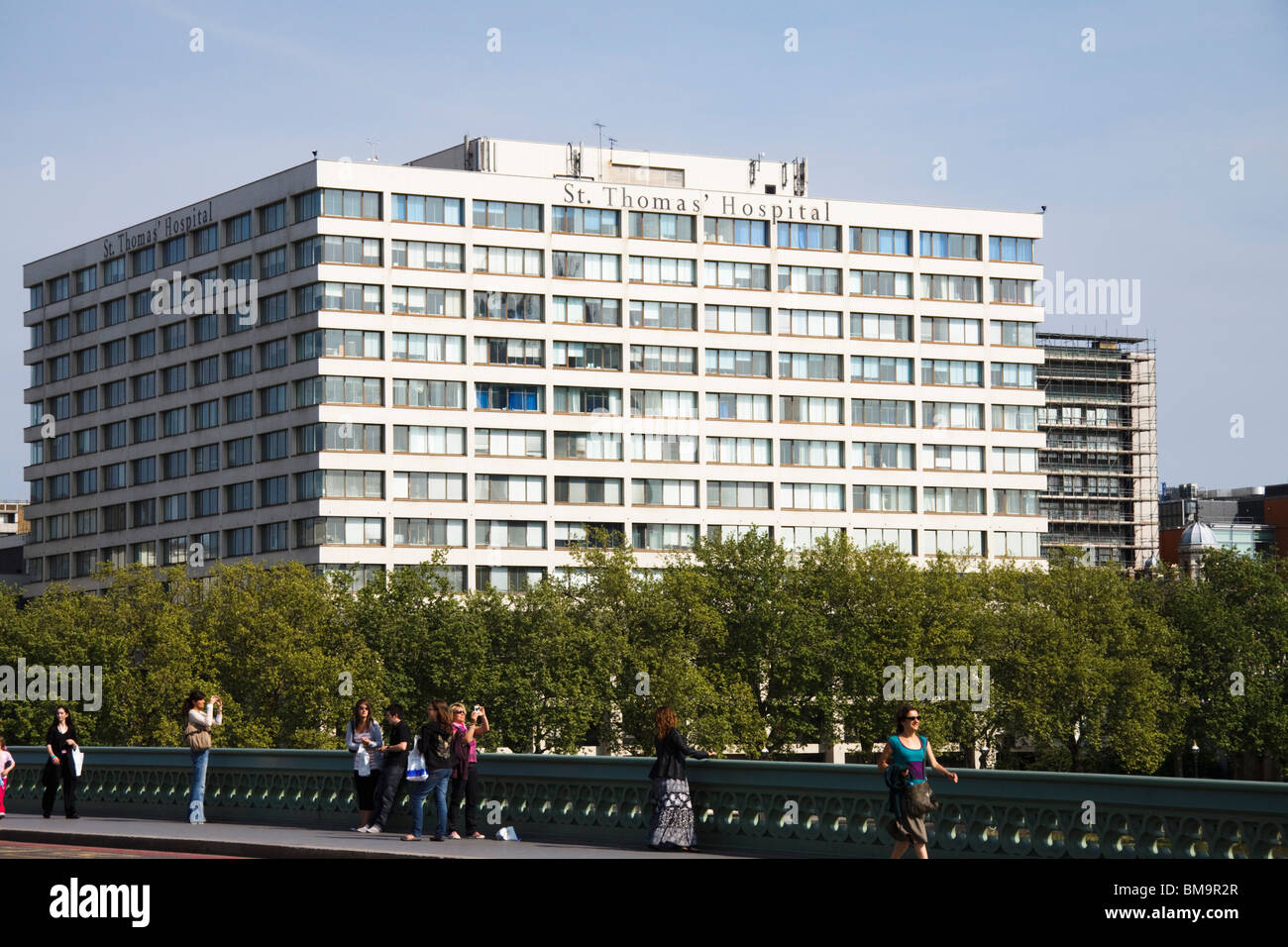 St Thomas Hospital, London, England - Stock Image
