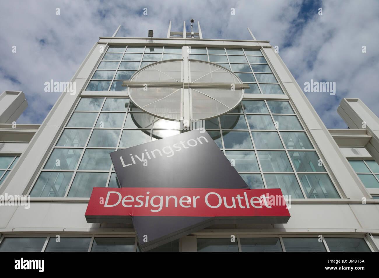 Livingston Designer Outlet shopping mall Scotland - Stock Image