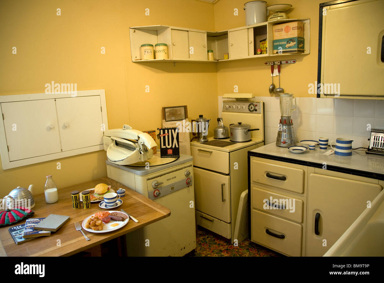 1950s kitchen museum of east anglian life stowmarket suffolk stock image