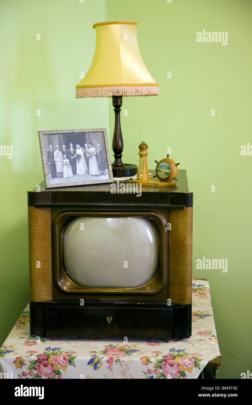 1950s television, Museum of East Anglian Life, Stowmarket, Suffolk - Stock Image