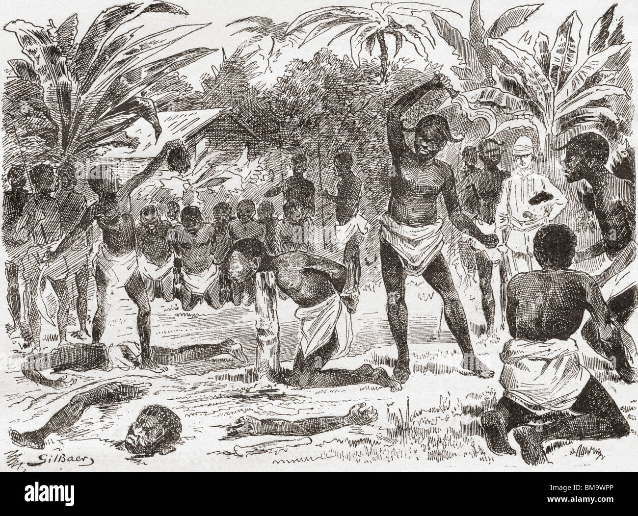 Human sacrifice in the Congo during the 19th century. - Stock Image