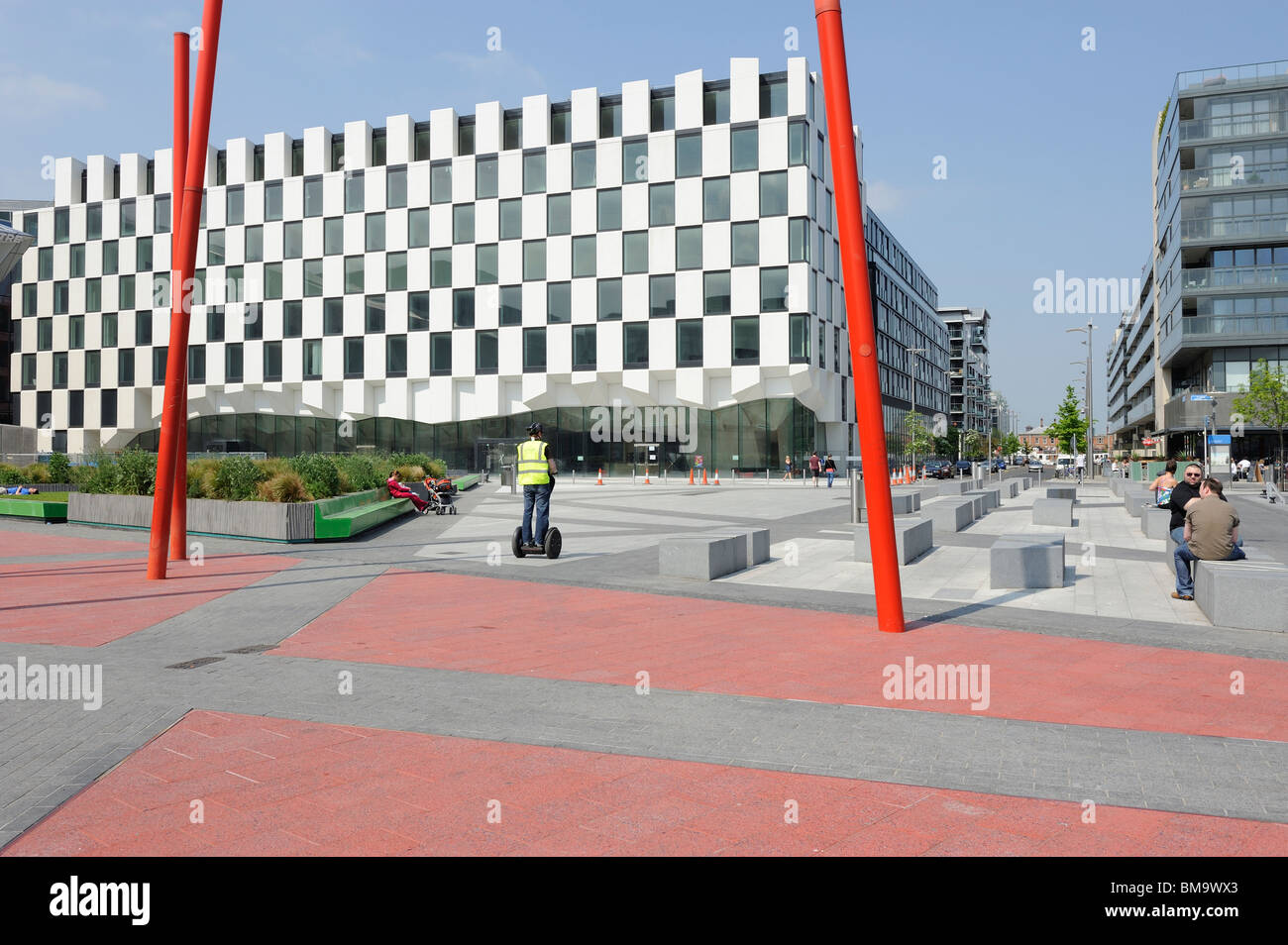 Blood stone Building.  Docklands. Dublin City. Republic of Ireland - Stock Image