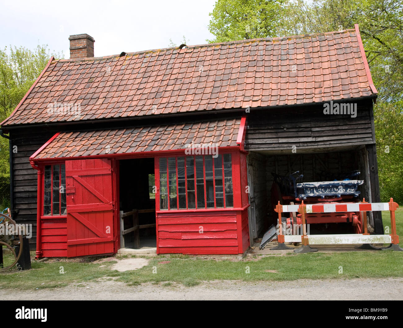 Blacksmith forge, Museum of East Anglian Life, Stowmarket, Suffolk - Stock Image