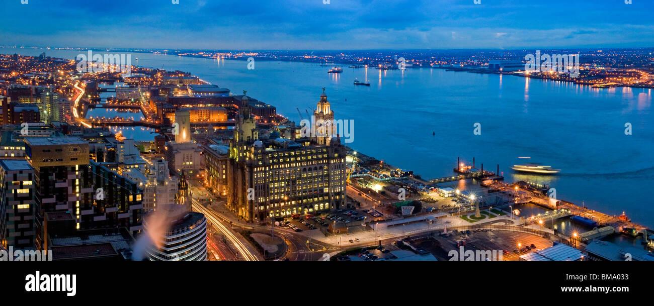 Liverpool's Historic Waterfront World Heritage Site Stock Photo