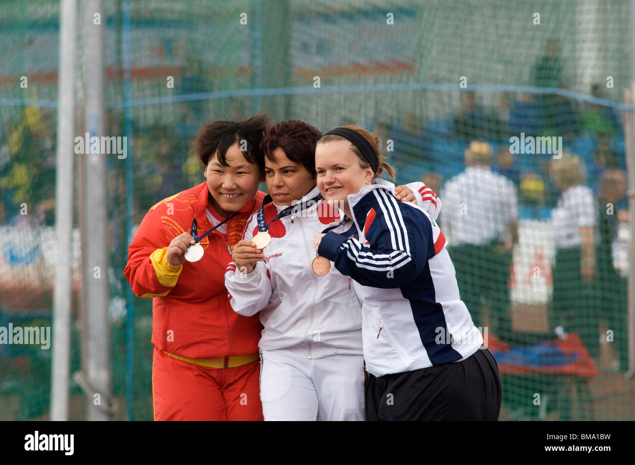 medallists at paralympic world cup manchester 2010 - Stock Image