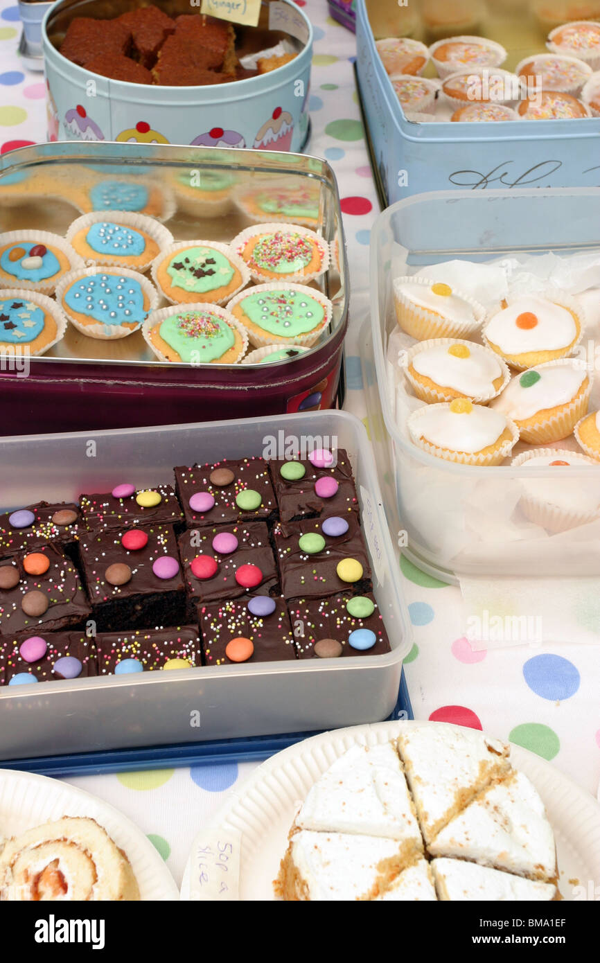 Home Made Cakes At A Summer Fete Cake Stall