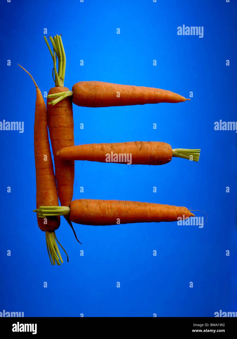 food letter E - Stock Image