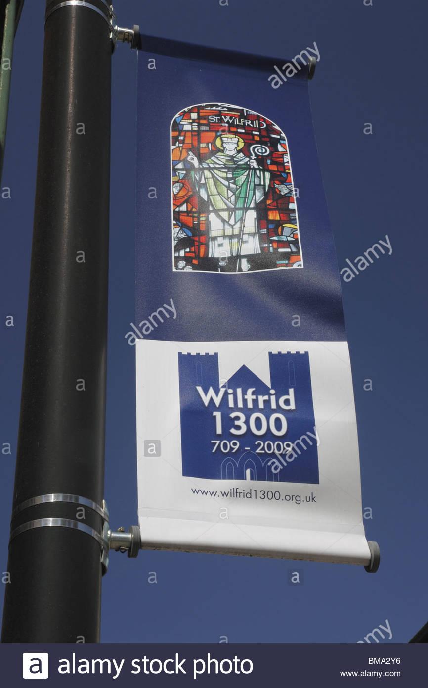 Street banner Ripon North Yorkshire England - Stock Image