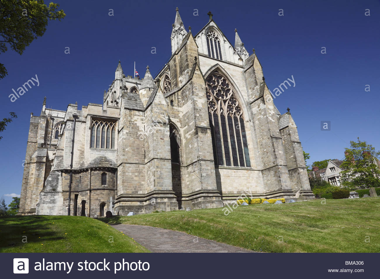 Ripon Cathedral North Yorkshire England - Stock Image