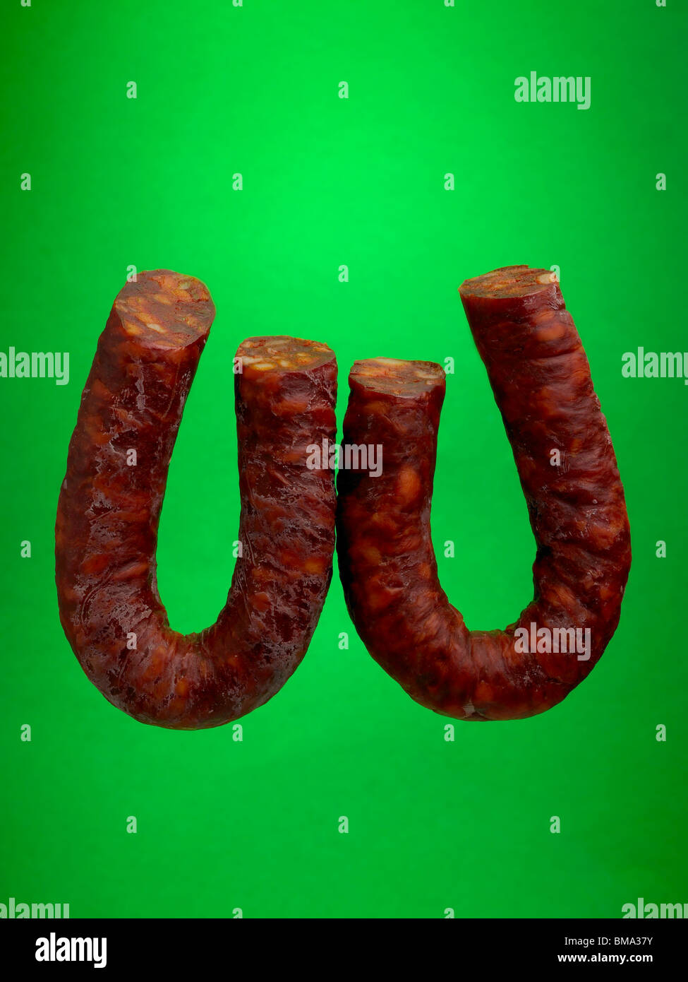 food letter W - Stock Image