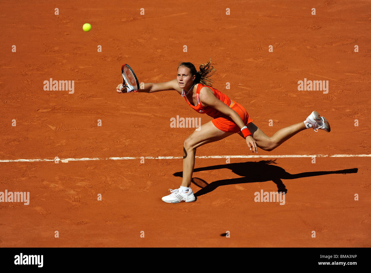 Stefanie Voegele (SWI) competing at the 2010 French Open - Stock Image