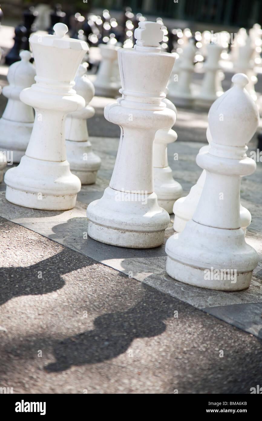 Street chess. Camera angle view. - Stock Image