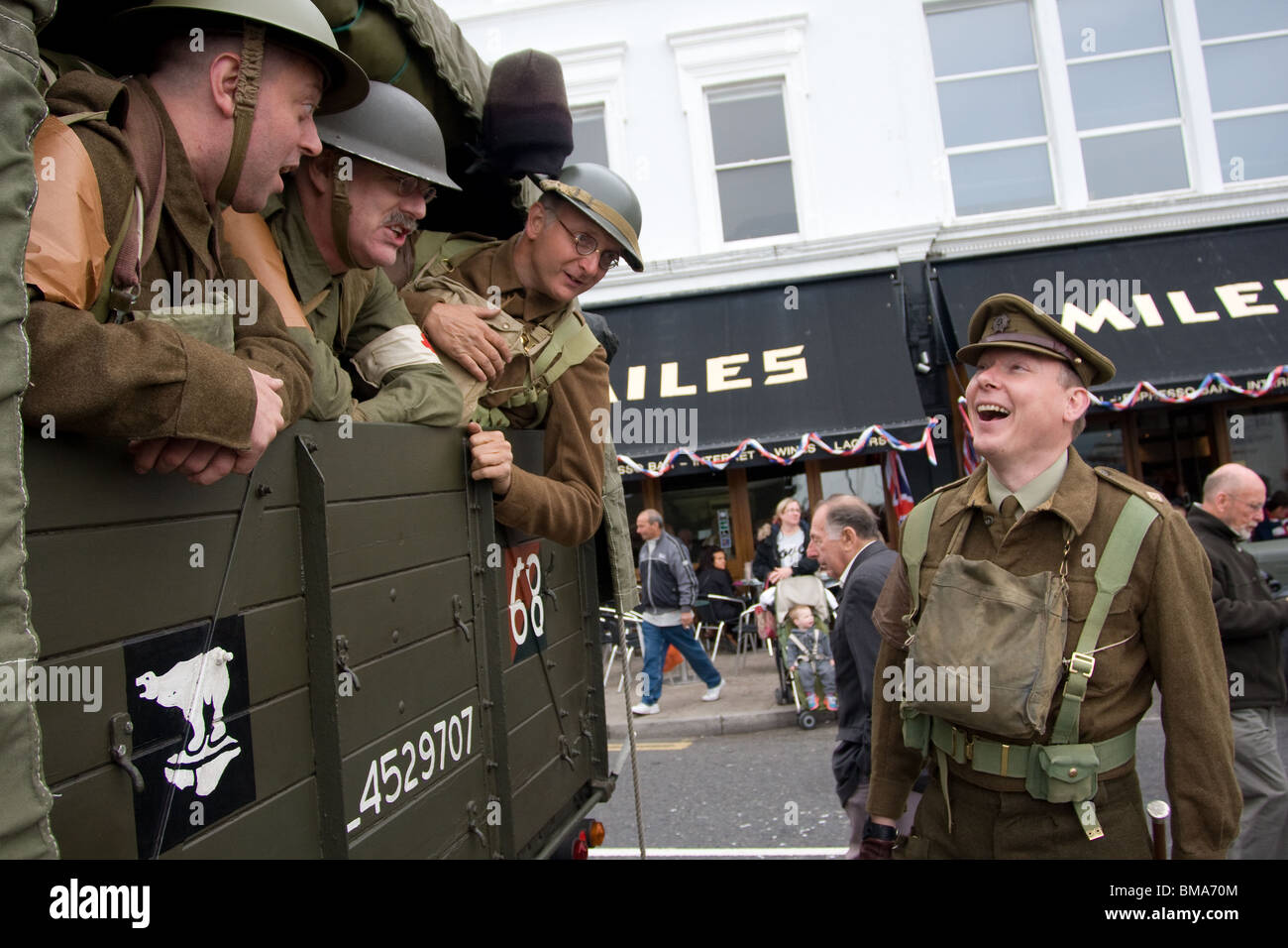 70th Anniversary of the rescue of British Expeditionary Force army from Dunkirk to Ramsgate May June 1940, celebrations - Stock Image