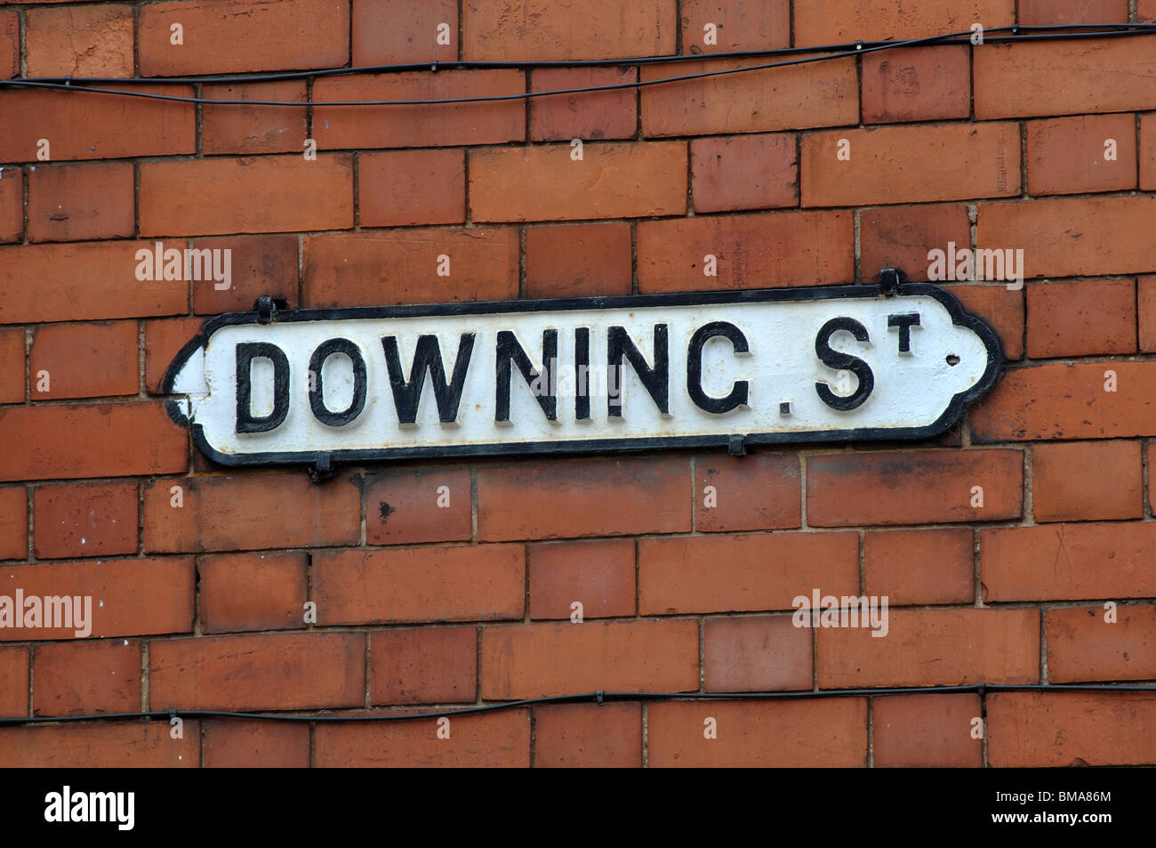 Downing Street sign Sutton-in-Ashfield, Nottinghamshire, England, UK - Stock Image