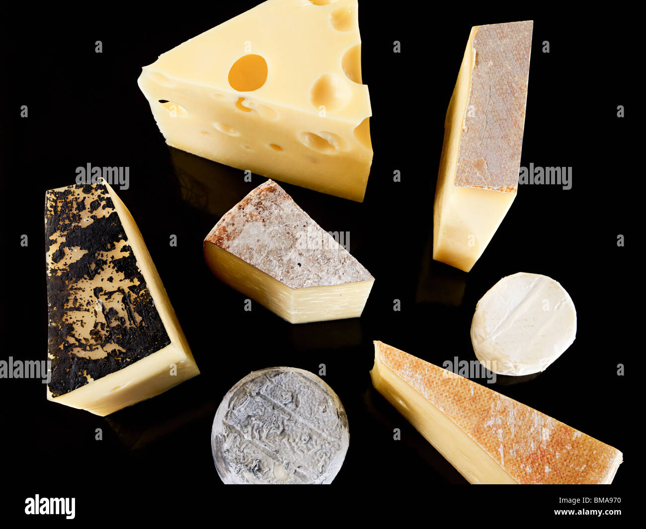 Selection of cheeses - Stock Image