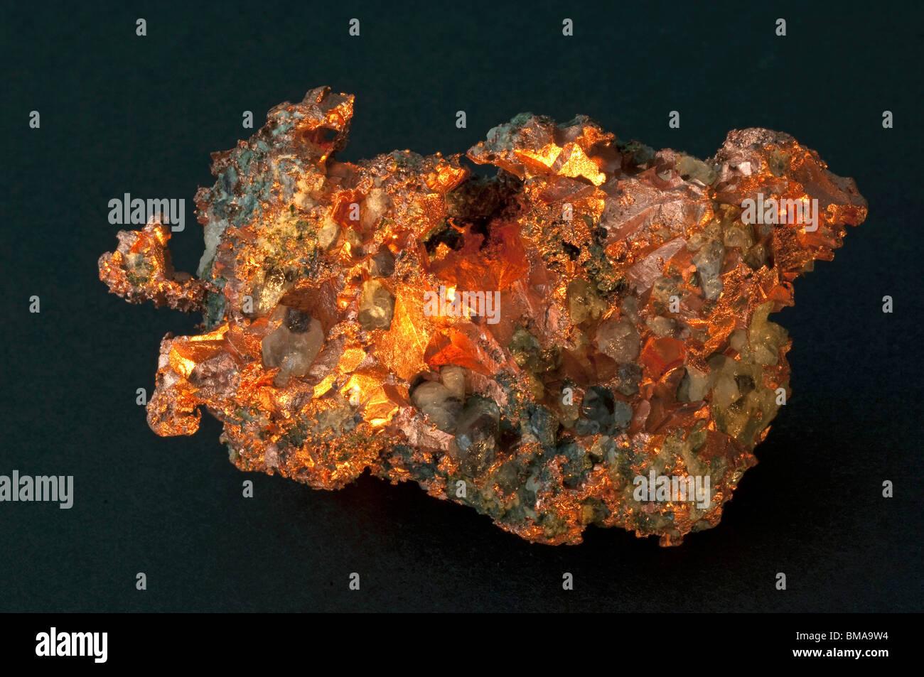 Native Copper, studio picture. - Stock Image