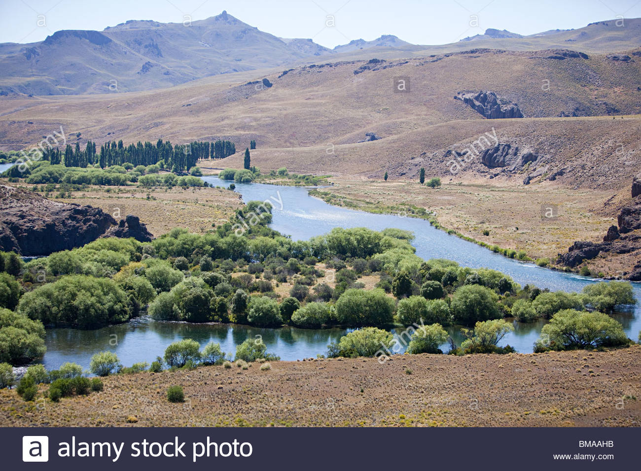 River in valle encantado in argentina - Stock Image