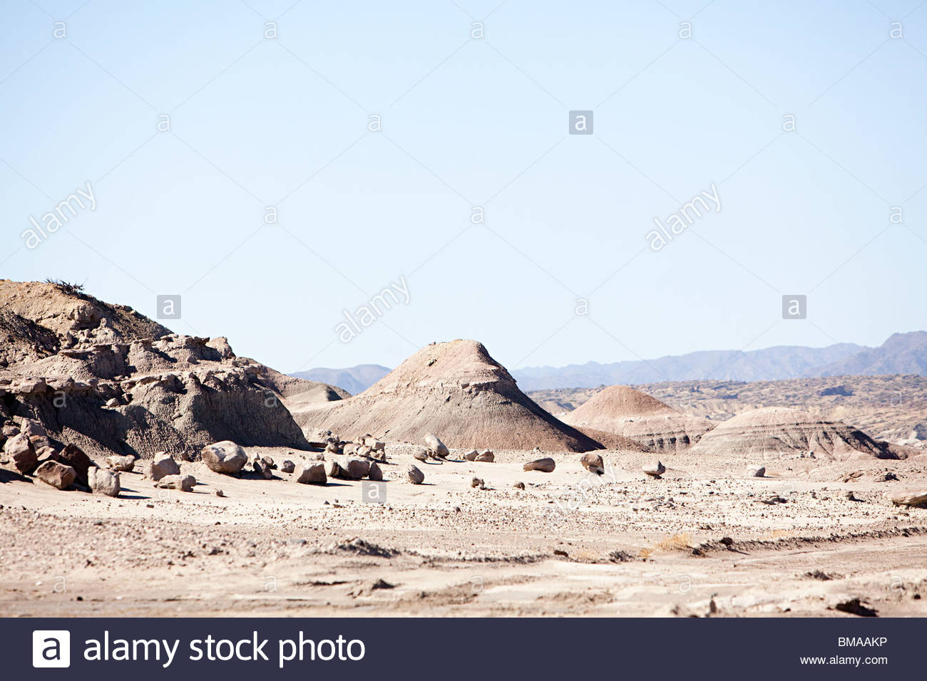 Rock formations in san juan province of argentina - Stock Image