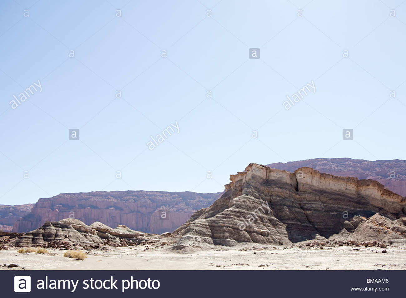 Rock formation in san juan province of argentina - Stock Image