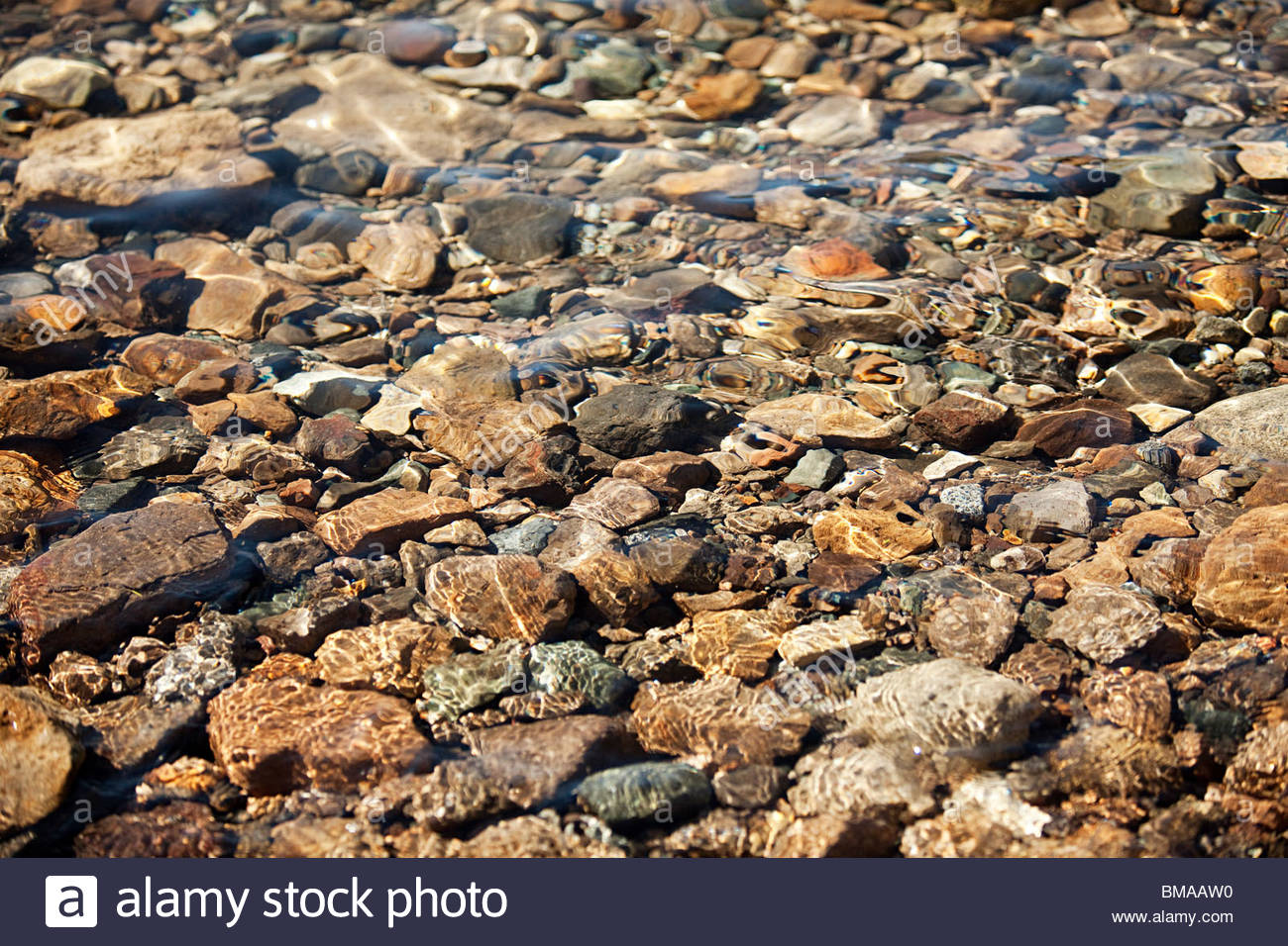 Water over stones - Stock Image