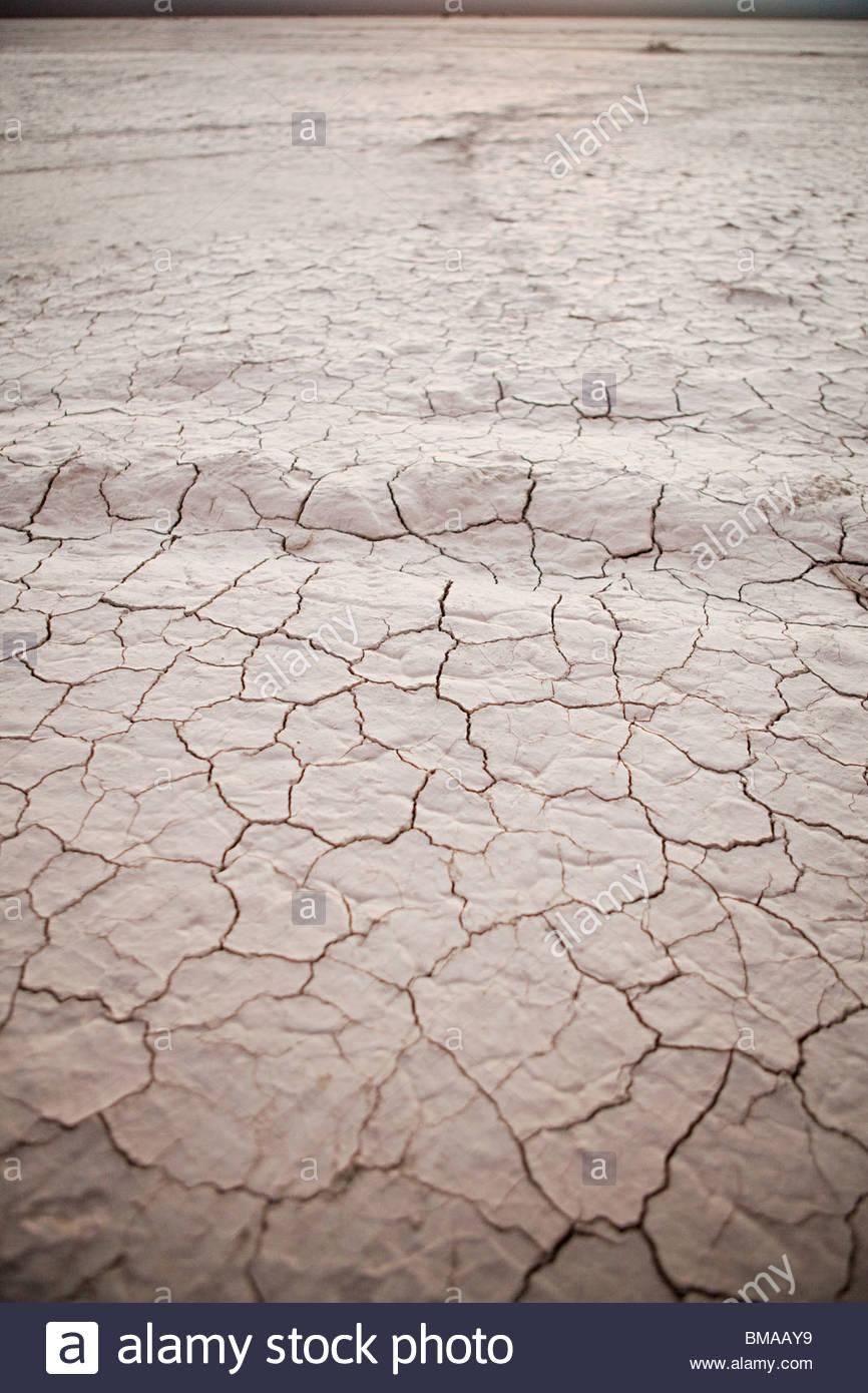 Salt pan at el leoncito national park in argentina - Stock Image