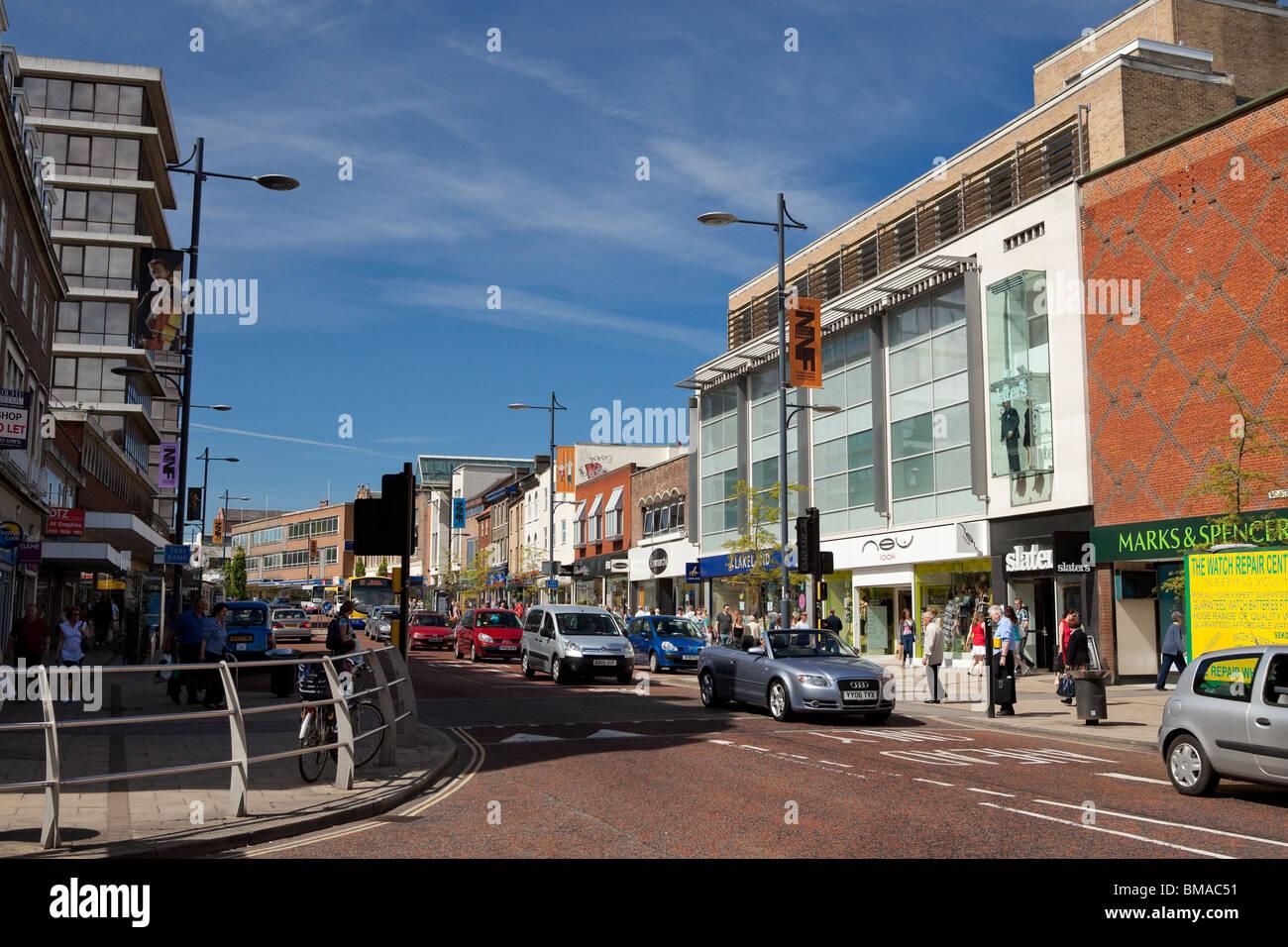 Norwich city centre, St Stephens street. - Stock Image