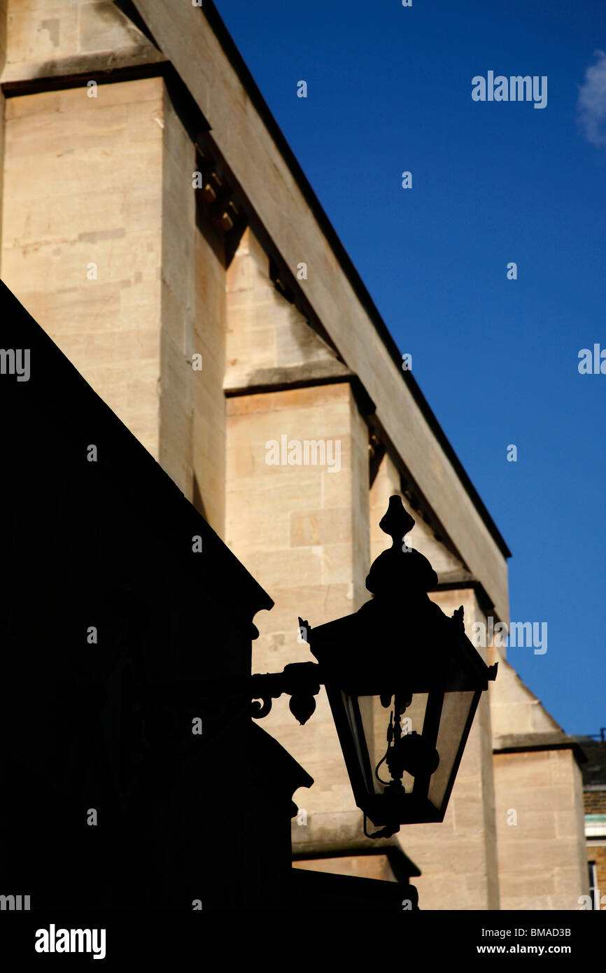 Gaslight in front of Temple Church, Inner Temple, Inns of Court, London, UK - Stock Image