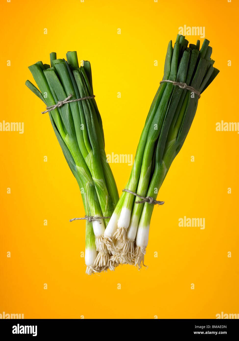food letter V Stock Photo - Alamy