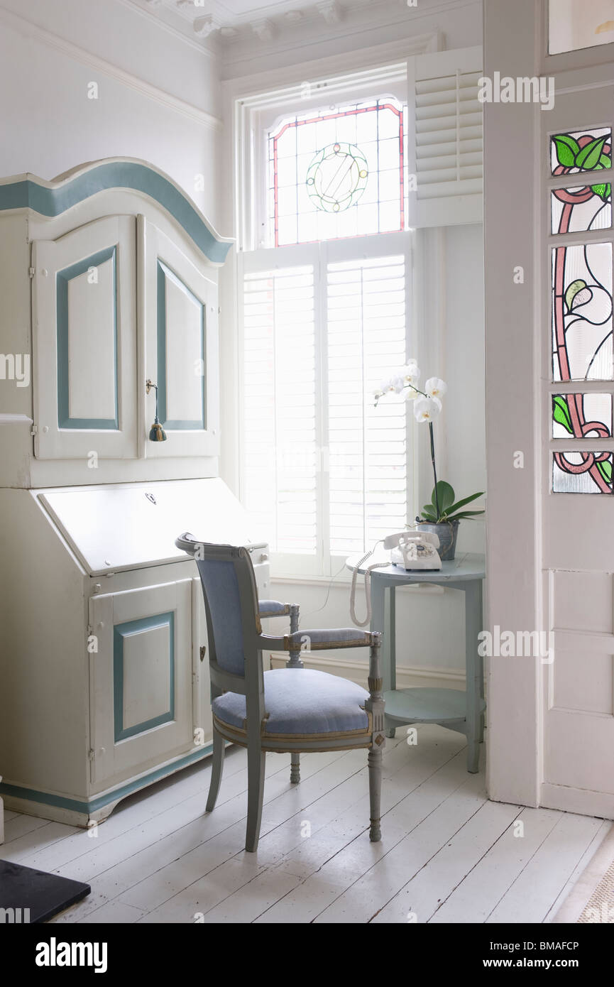 Design Bureau Of America.Writing Bureau In Study With America Shutters London Stock
