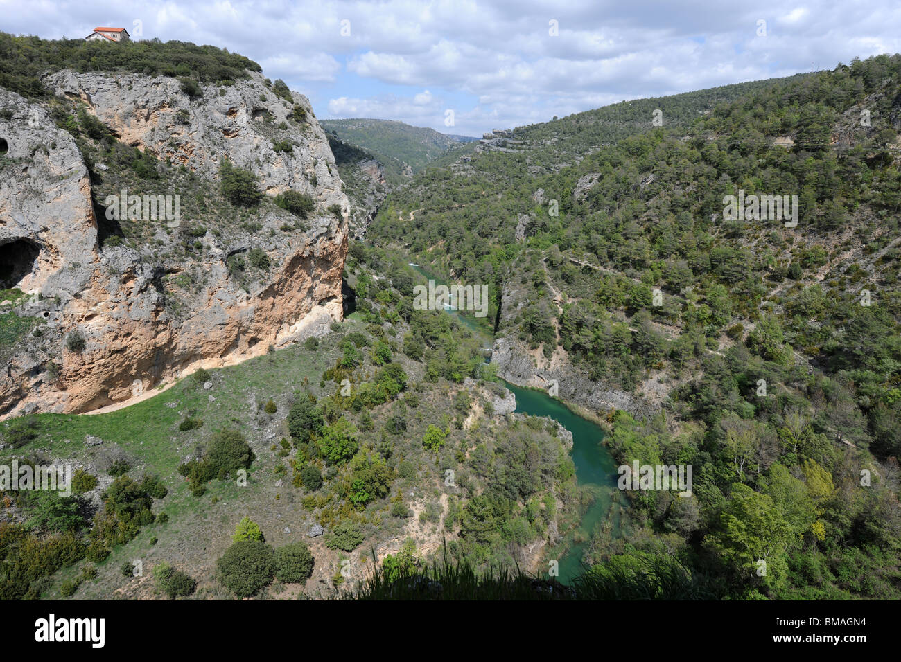 Jucar River / Rio Jucar, Serrania de Cuenca, Castile-La Mancha, Spain - Stock Image
