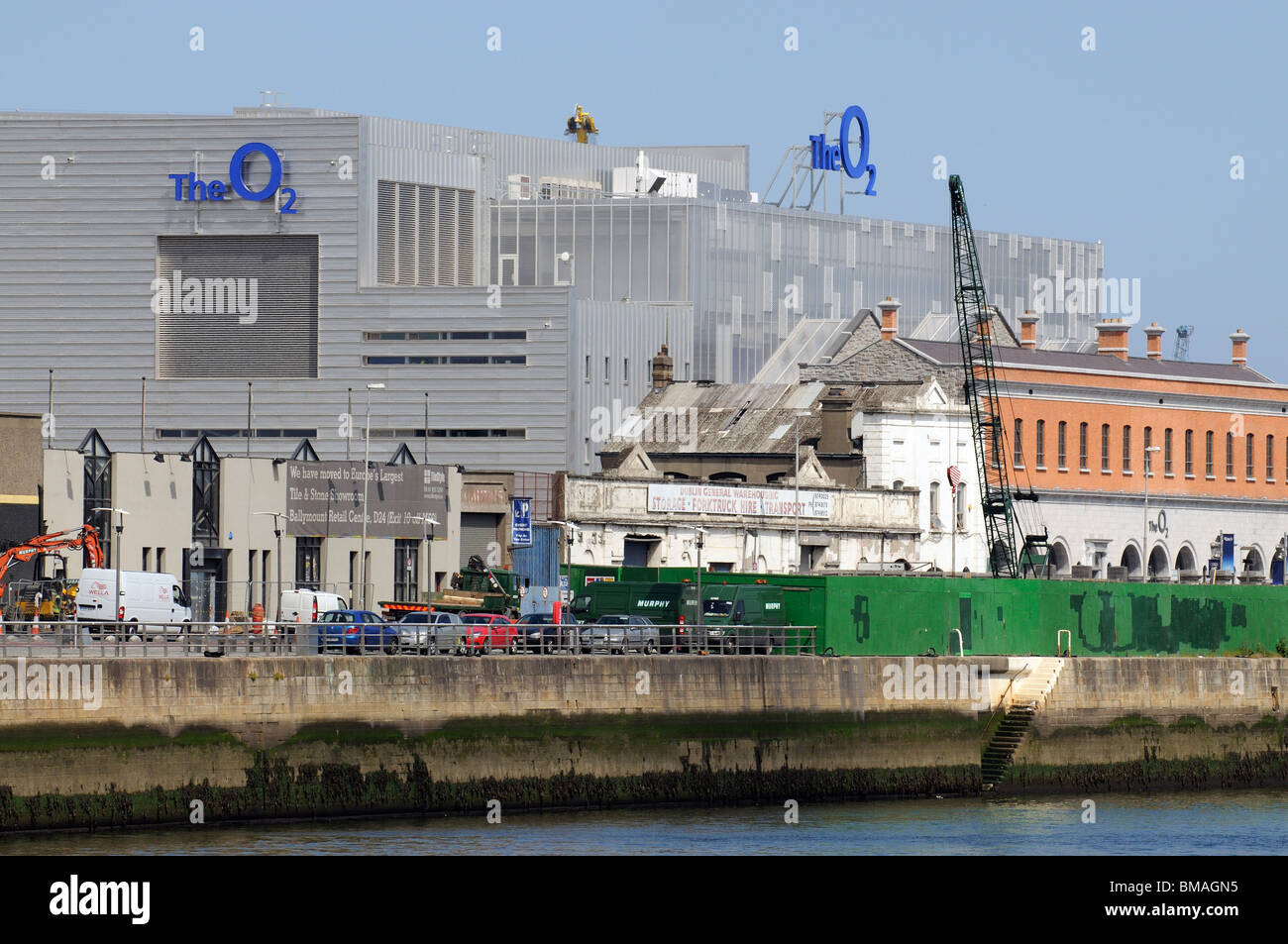 The O2 Theatre in the Docklands area of Dublin waterfront - Stock Image