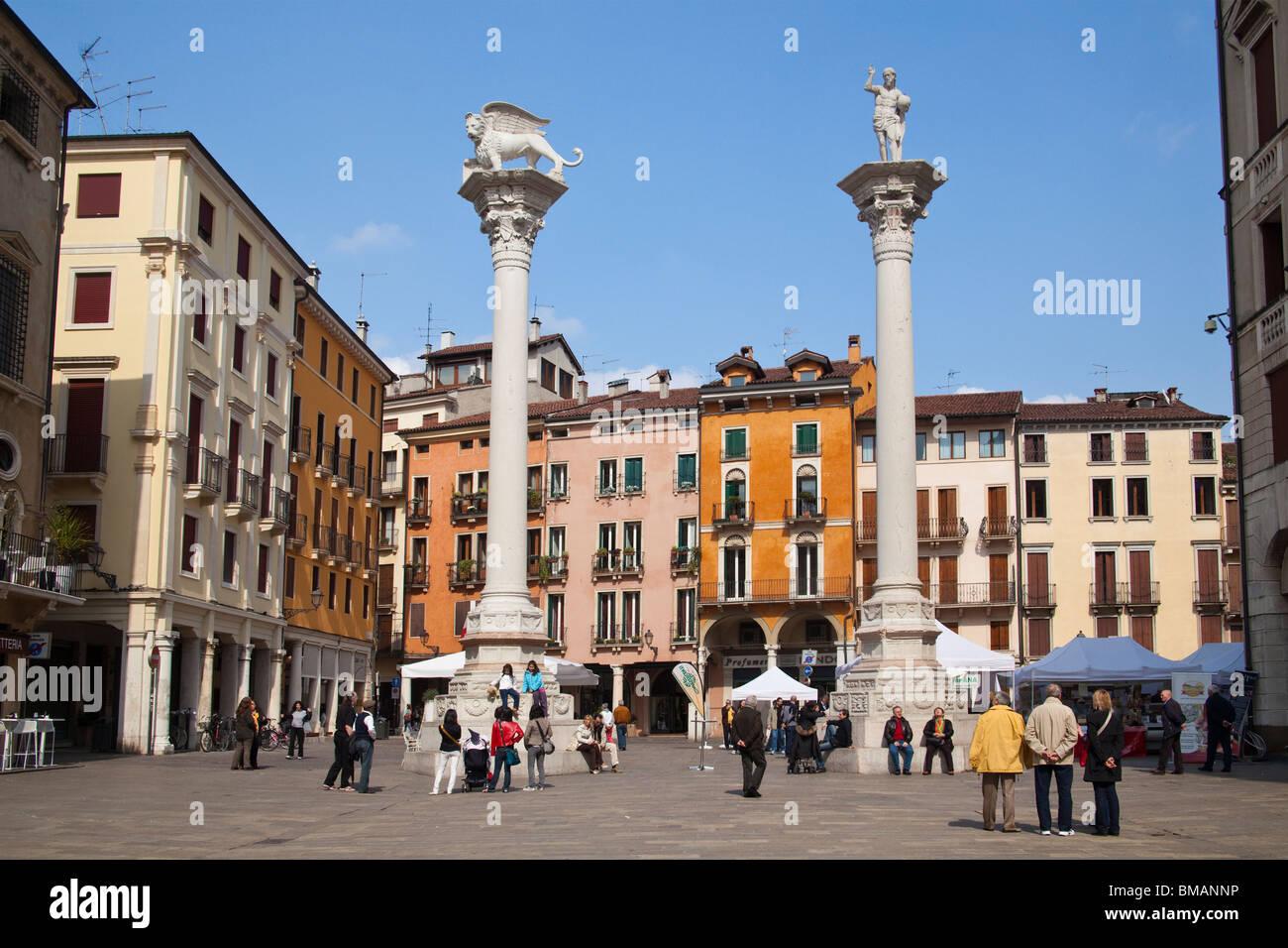 Piazza dei Signori Vicenza Veneto Italy - Stock Image