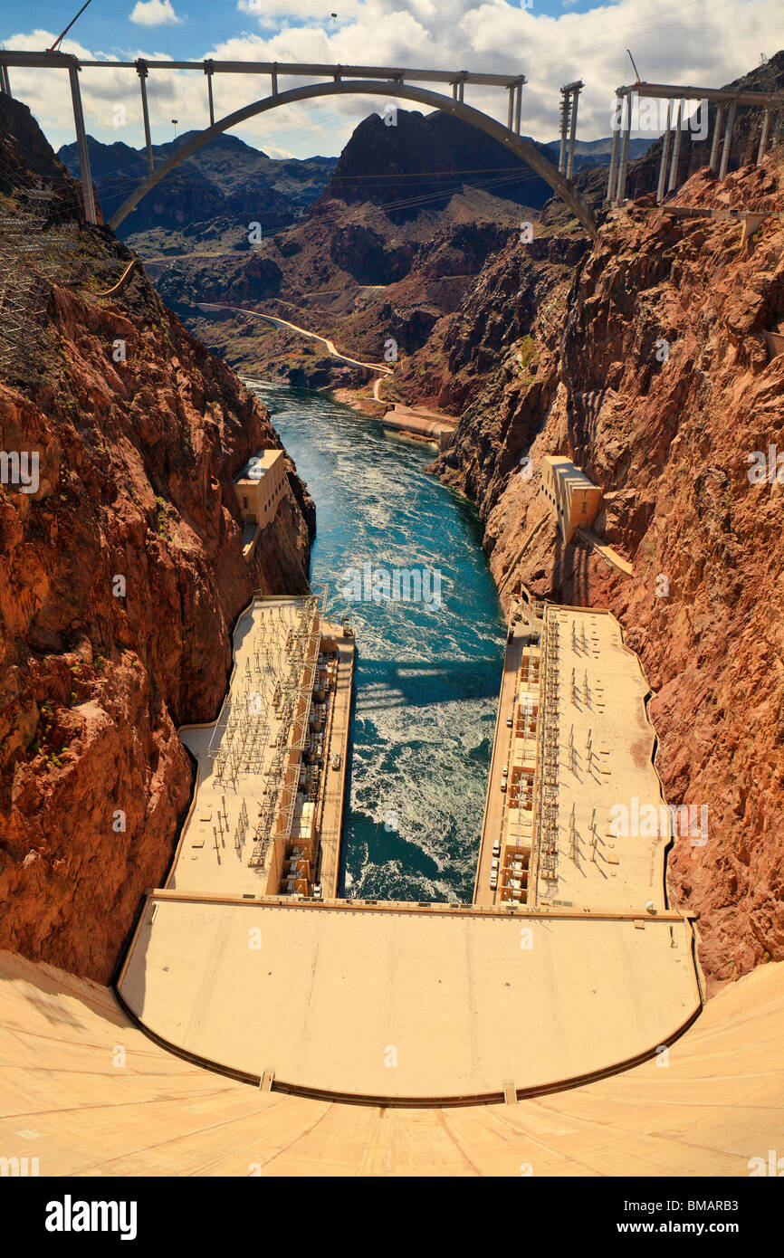 The world famous Hoover Dam-Boulder City, Nevada, USA. - Stock Image