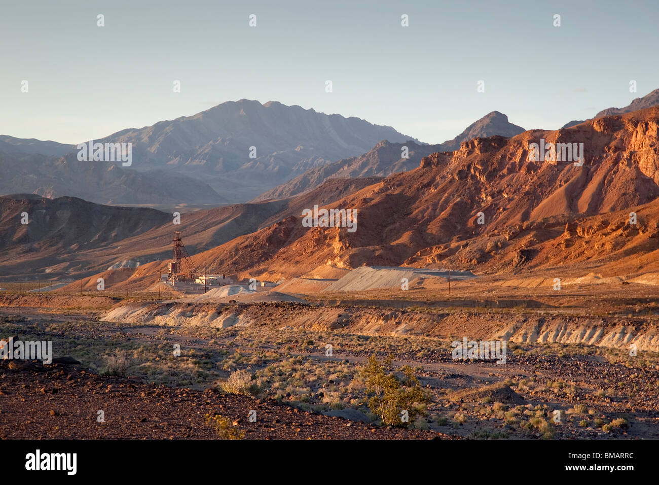 Mining in Death Valley National Park California USA - Stock Image