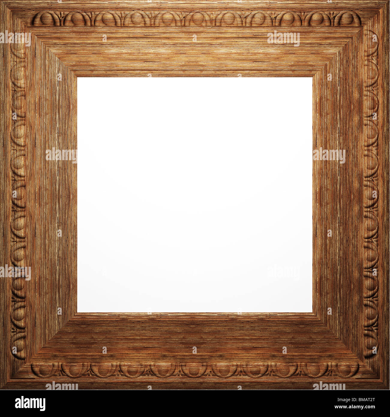 wooden antique frame made 3 D graphics Stock Photo: 29741904