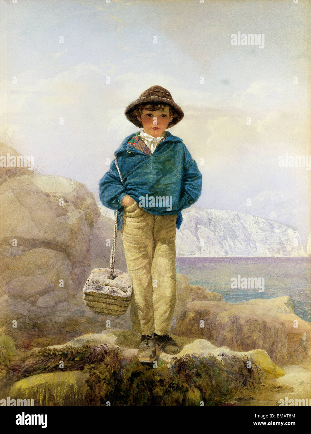 A Fisher Boy, by Alfred Downing Fripp. England, 19th century - Stock Image
