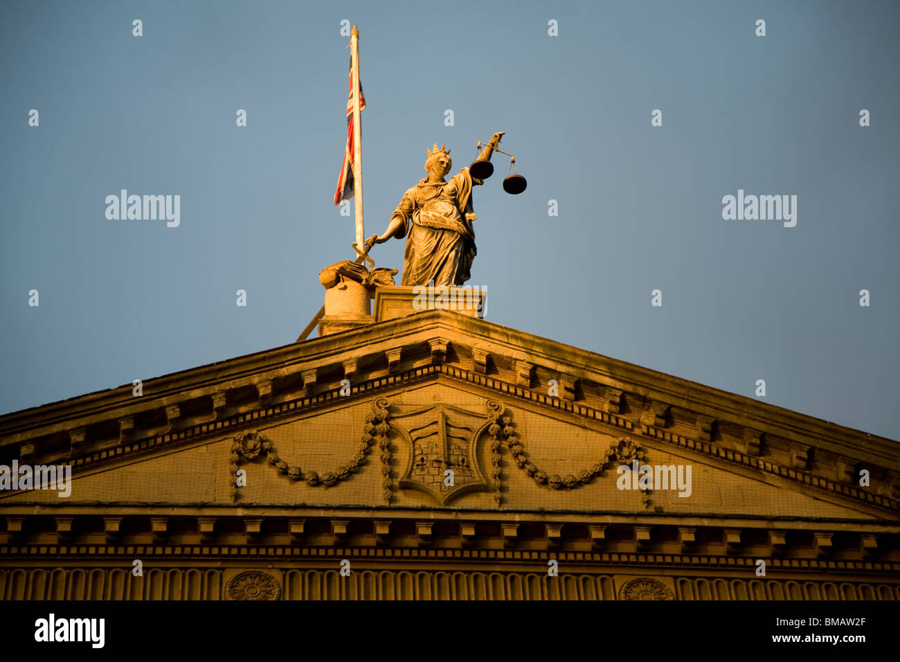 Scales of Justice on Guildhall, Bath - Stock Image