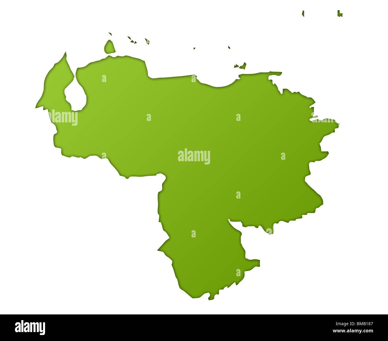Map venezuela stock photos map venezuela stock images alamy venezuela map in gradient green isolated on white background stock image gumiabroncs Choice Image