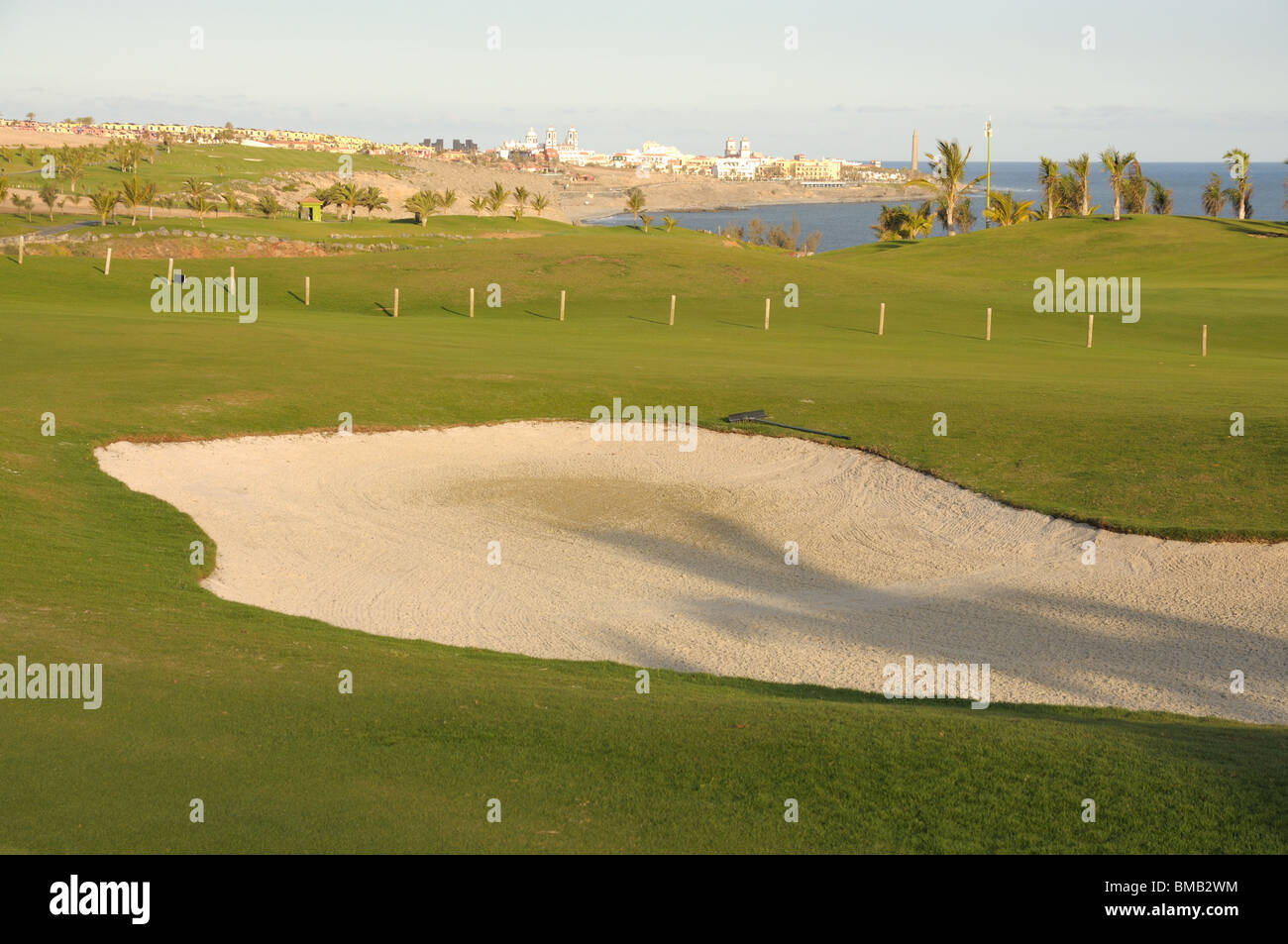 Costal Golf Course - Stock Image