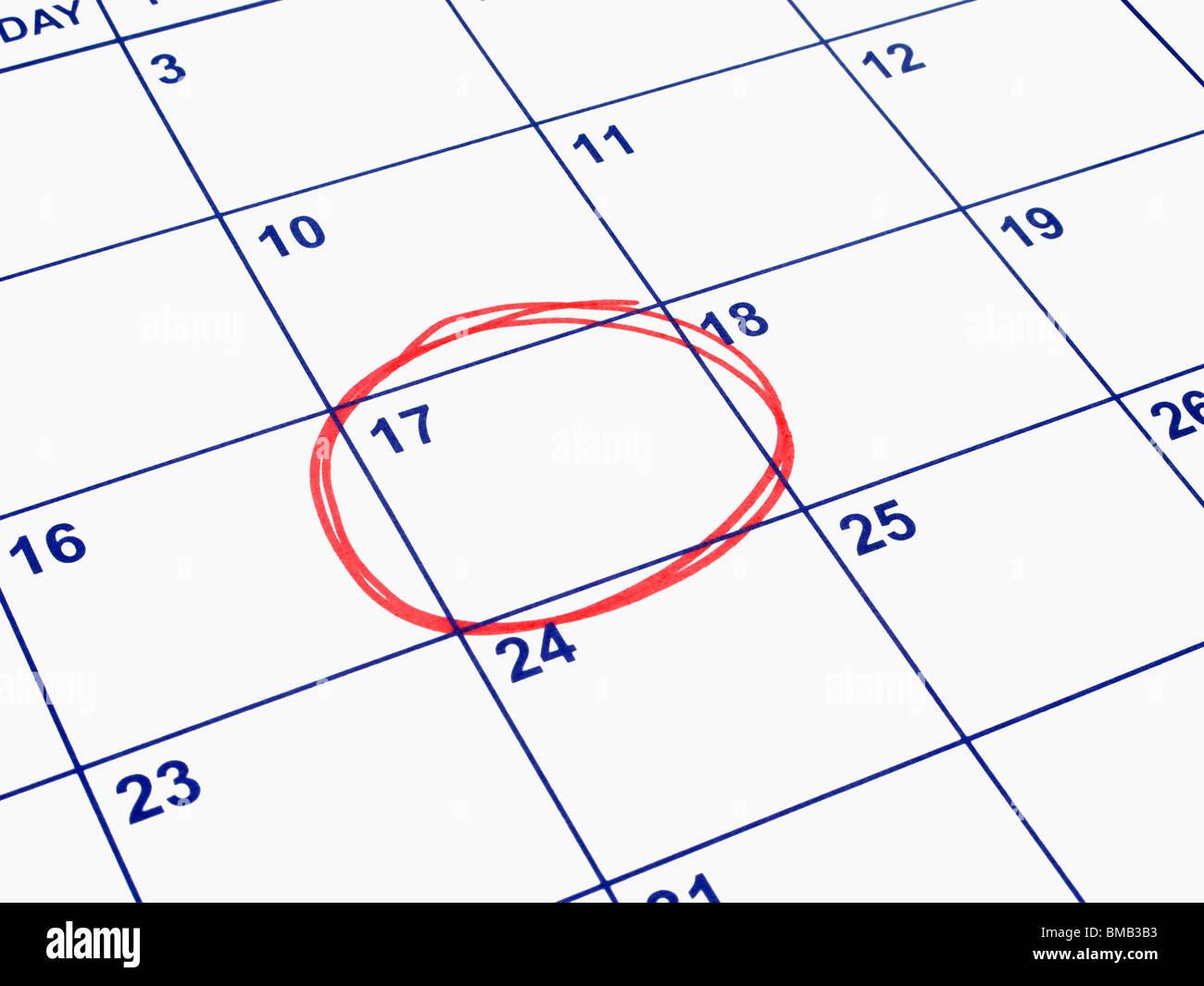 Calendar Date.Calendar Date Circled Stock Photos Calendar Date Circled Stock