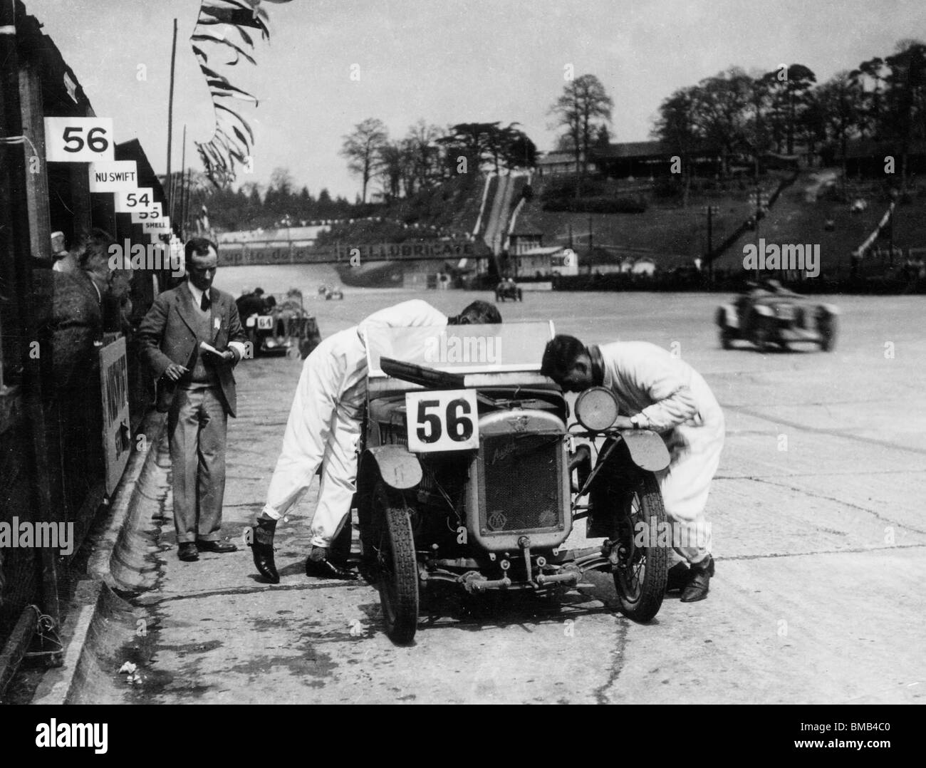 Austin 7 Ulster Works car during  Double 12 race at Brooklands May 1930. - Stock Image