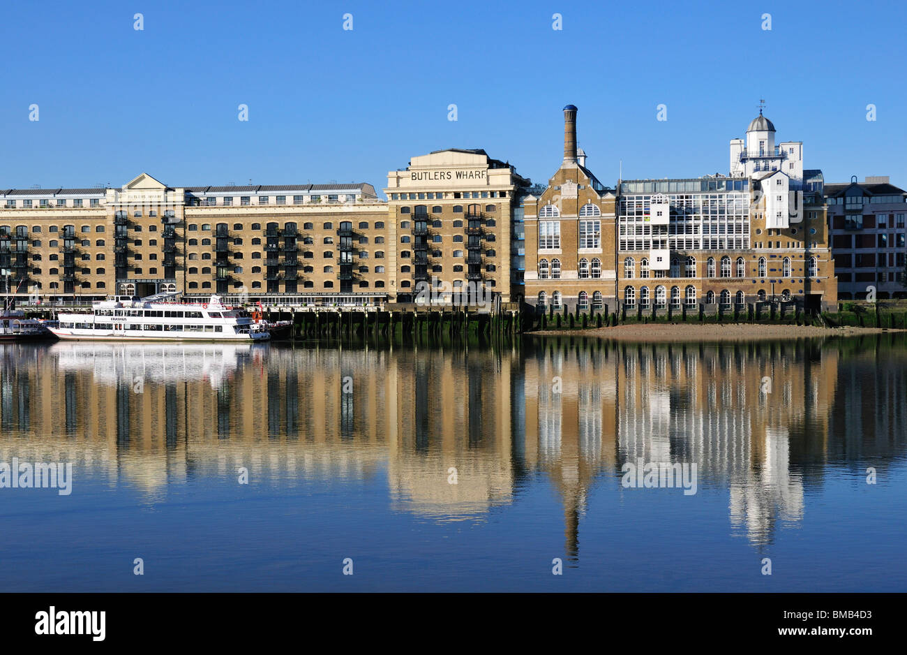 Butlers Wharf and Shad Thames, Southwark, London SE1, United Kingdom - Stock Image